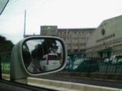 車から撮影した母校