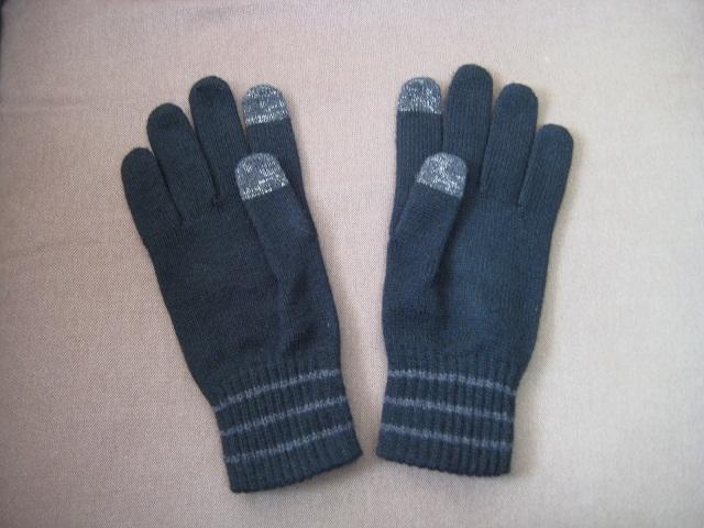 無印良品 タッチパネル可能手袋(黒)