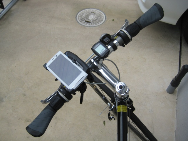 自転車のハンドル周り